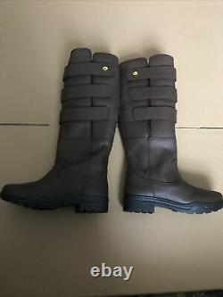 6.5 Rhinegold Colorado Long Leather Equestrian Country (Riding) Stable Boots 40
