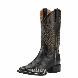 Ariat 10018529 Round Up 11 Wide Square Toe Cowgirl Fashion Riding Boots