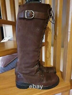 Ariat Coniston Riding Country Boots Brown Leather, laced with zip 37.5 UK 4.5