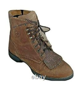 Ariat Heritage Lacer II Womens Western Distressed Brown Boot 10002147 Size 5.5B