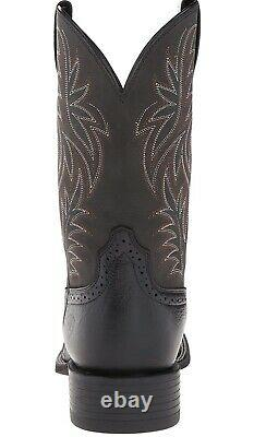 Ariat Sport Wide Square Toe Western Boots Mens Country Leather Work Boot