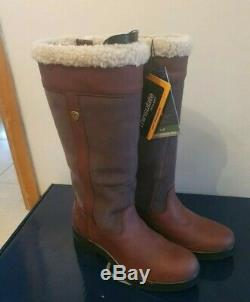Ariat windermere boots Fur Lined Size 7.5 NEW BOX yard country riding brown