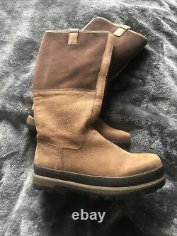 BARBOUR Size 8 Long Brown Country Boots, walking, shooting, riding Unisex Pull On