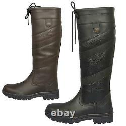 B&A Caitlan Womens Waterproof Leather Long Riding Yard Muck Ladies Country Boots