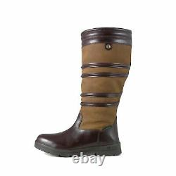 Brogini Dorchester Waterproof Long Country Riding Boots, Walking, in Brown