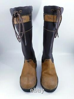 Brogini size 13 (32) girls brown leather country yard long riding boots