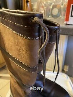 Brown Leather Riding Country Boots Size 8 Wide