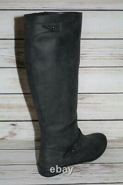 COUNTRY ROAD Brand Black Leather Knee High Classic Riding Boots Size 42 LIKE NEW