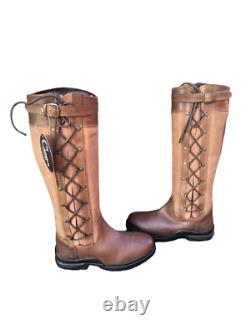 Campus Equine Country/Riding Boots Long/Walking Leather Horse Waterproof UK 4