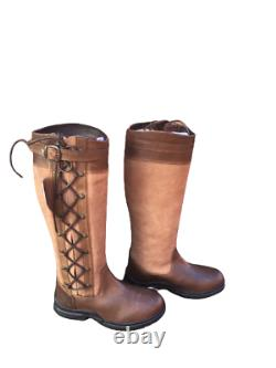 Campus Equine Country/Riding Boots Long/Walking Leather Horse Waterproof UK 5/38