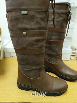 Catesby Country Boots 236 Oak. Ladies EU 40 Riding Boots. Defects Ref LR