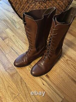 Cole Haan Country Riding Boots Vintage Brown Leather 8m