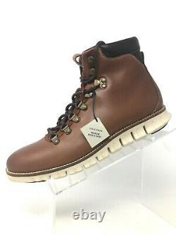 Cole Haan ZeroGrand Hiker II Water Resistant Hiking Boots Woodbury Ivory Men 7.5