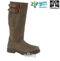 Country Boots Woodland Blake Mens Waxy Leather Zip Up Size 7 12 UK