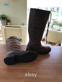 DUBLIN River Boots -Waterproof Riding Yard Walking Leather Country Ladies Size 6
