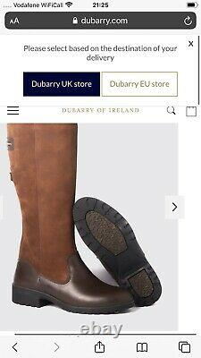 Dubarry Clare Brown Goretex Lined Country Riding Boots Size UK 4 Brand New