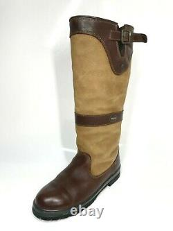 Dubarry Country Adjustable Boots UK7 EU41 Brown Riding Leather (1147 SRB)