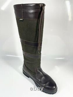Dubarry Galway Country Boots UK7 EU41 Brown Olive Riding (139-20 B11)