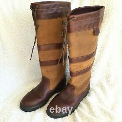 Dubarry Galway Country Boots UK9 EU43 Walnut Brown Riding Outdoors Used