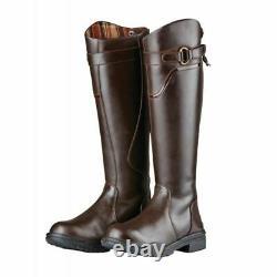 Dublin Calton Country Boots brown EU 38 UK 5 regular fit long riding yard boot