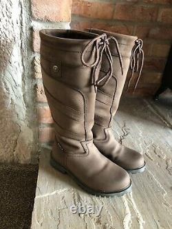 Dublin Kennet Boots Riding Country Brown Size 4 Excellent Hardly Worn