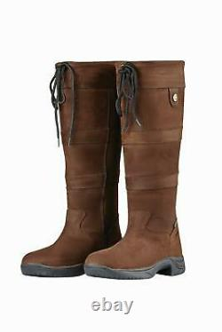 Dublin Ladies Boots New River Womens Waterproof Country Walking Leather Tall NEW