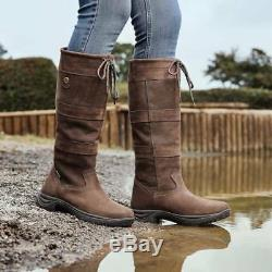 Dublin River Boots, Waterproof & Breathable Long Country Riding Boots, All Sizes