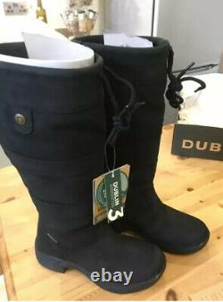 Dublin River III Leather Waterproof Riding / Country Boots Size 5 X Wide Calf