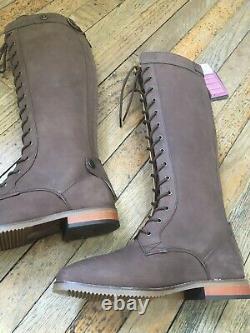 Dublin Westport Nubuck Laced Country / Riding Boots Size 6 Reg (38cm) Calf