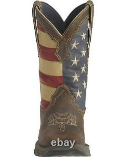 Durango Lady Rebel American Flag Cowgirl Boot Square Toe RD4414