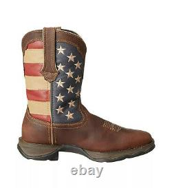 Durango Lady Rebel American Flag Cowgirl Leather Boots RD4414 Womens Size 7 M