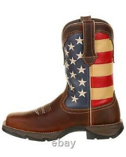 Durango Women's Lady Rebel Patriotic Flag Work Boot Steel Toe DRD0234