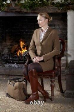 Fabulous Quality Toggi Morella Long Leather Country Riding Boots in London Tan