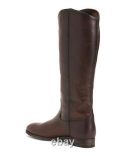 Frye Melissa Button 2 Redwood Italian Leather Tall Riding Boots 8.5 NIB$348