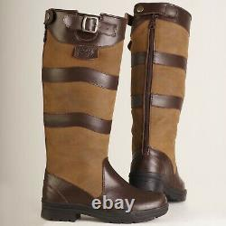 Gallop CHILTERN Long Leather Equestrian Country Riding Boots UK8 LAST OF THESE