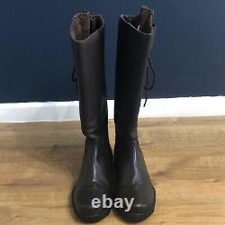 Gallop Gateley Country Riding Yard Boots Size UK 7 Leather In Brown Zipped Boots