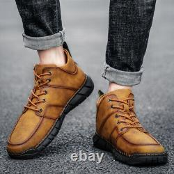 Genuine Leather Men Casual Shoes Martin Boot Fashion Ankle Boots Outdoot Sneaker