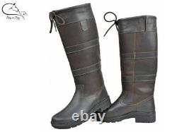 HKM Belmond Winter Oiled Leather Country Horse Riding Yard Boots FREE DELIVERY