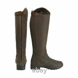Hy LAND WATERFORD Long Tall Leather Winter Country/Riding Boot Dark Brown 36-41