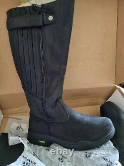 KANYON GORSE W X-RIDER BLACK COUNTRY/RIDING BOOTS SIZE 7 WIDE CALF Waterproof