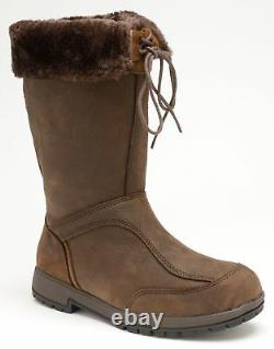 Kanyon Alder fur-topped chocolate waterproof riding country mid-boot 3-8UK