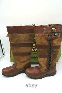Kanyon Unisex Adults Waterproof Leather Riding Stable Walking Country Boots UK 6