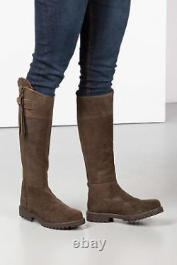 Ladies Haworth Tall Suede Country Full Zip Riding Boot Rydale Women's Long Boots