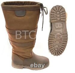 Ladies Womens Horse Riding Leather Chatsworth Waterproof Country Yard Boots