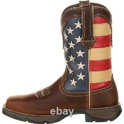 Lady Rebel Work by Durango Steel Toe Patriotic Flag Work Boot