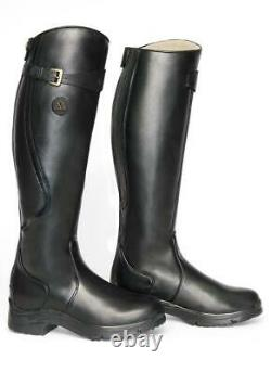 MH Snowy River Country/Riding Boots Long/Walking Leather Horse Waterproof UK 4