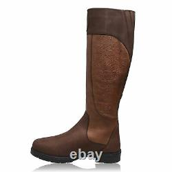 MORETTA Womens Pamima Country Boots Water Repellent Waterproof Zip Riding