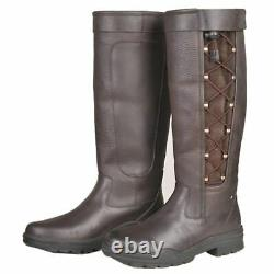 Madrid Long Country Boots Leather Waterproof Stable Yard Walking Horse Riding