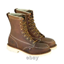 Men'S American Heritage Crazy Horse 8 In. Work Boots Steel Toe Trail Crazyho