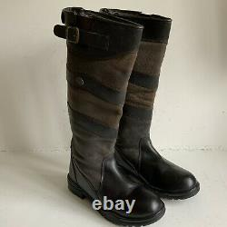 Mens Sherwood Forest Long Leather Boots Riding Walking Country Size 10 Wide Leg